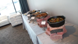 Amazing food for a reception from Wolfgang Puck Catering