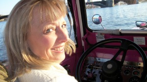 Lynette Driving the Duck Boat