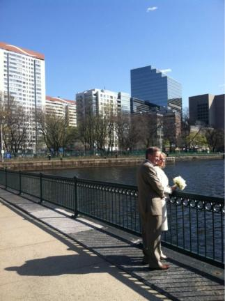 Renewing our wedding vows by Charles River