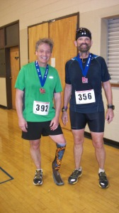 Me and new friend  Jim Skibo after Andrew Jackson Marathon