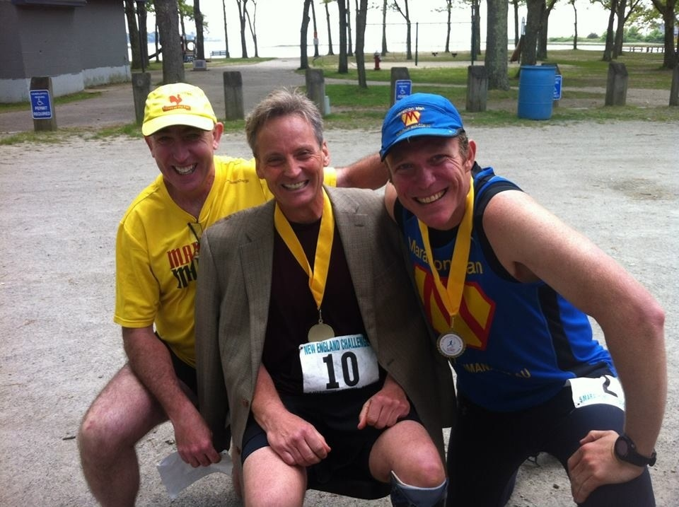 You can't run 4 marathons in 4 days with out making some amazing friends-Denis McCarthy( Irish dude living in St Louis gave me the jacket of his back) Trent Morrow (a.k.a Marathon Man from downunder working on setting world record for most marahons in a single year)