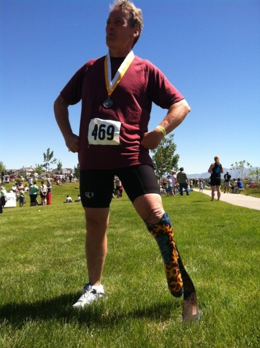 My super man pose after my first (and maybe last)  triathlon.  You never now what you can do until you try!