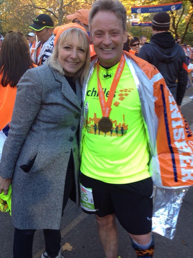 Finish line Ne York marathon
