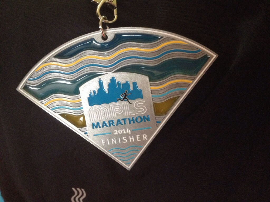 Marathon runners proudly display their Medals but this medal is not one of them.