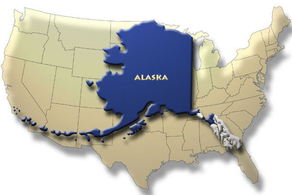 The Twilight Zone Of The Summer Solstice Alaska State - Show me a map of alaska